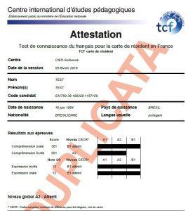 TCF CRF - Carte de résident en France